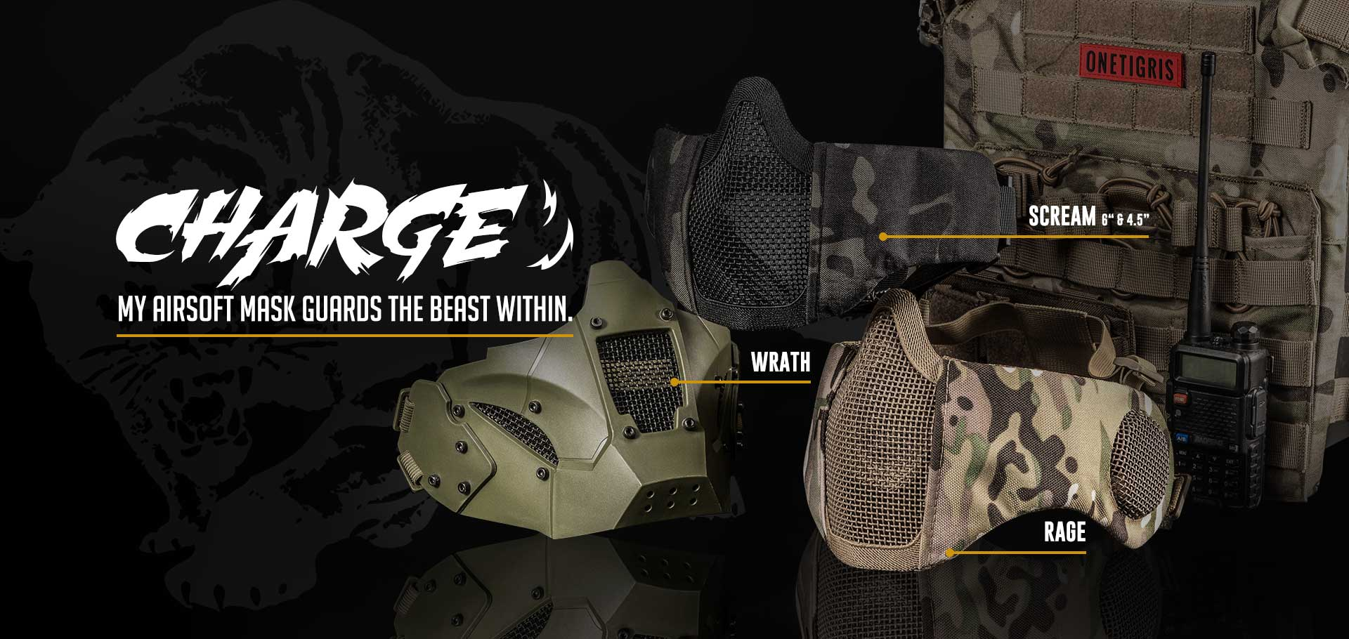 OneTigris Airsoft Foldable Mask Banner