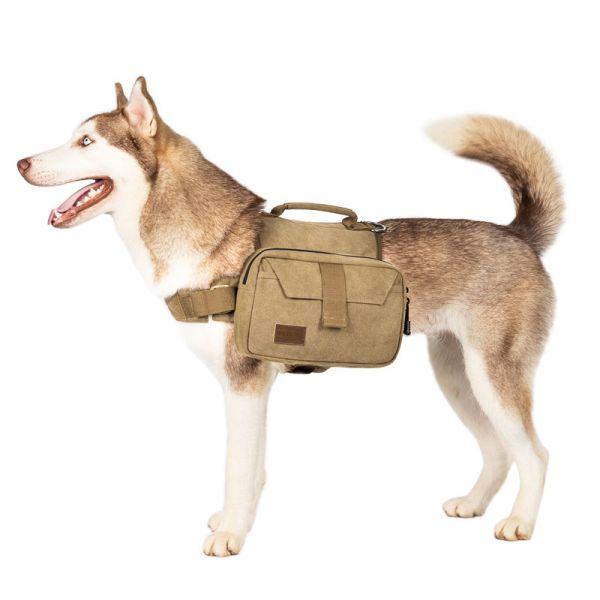 OneTigris Tactical MOLLE Dog Vest/Harness with Side Pouches