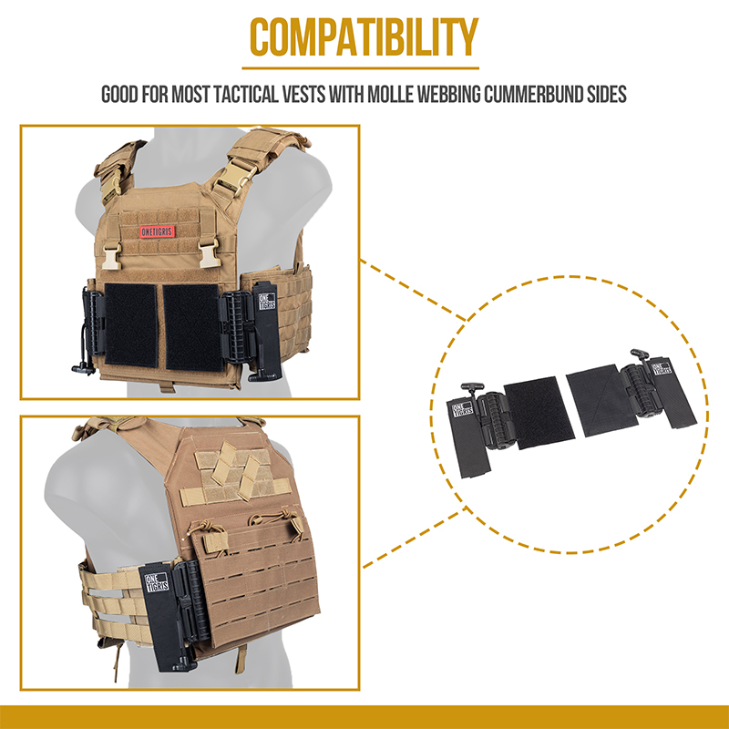 Plate Carrier Quick Release Adapters GOD FOR MOST TACTICAL VESTS WITH MOLLE WEBING CUMMERBUND SIDES