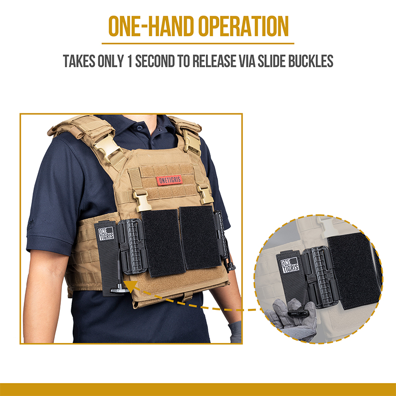 Plate Carrier Quick Release Adapters TAKES ONLY 1 SECOND TO RELEASE VIA SLIDE BUCKLES