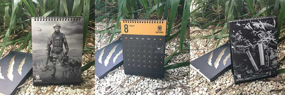 onetigris 2018 calendar