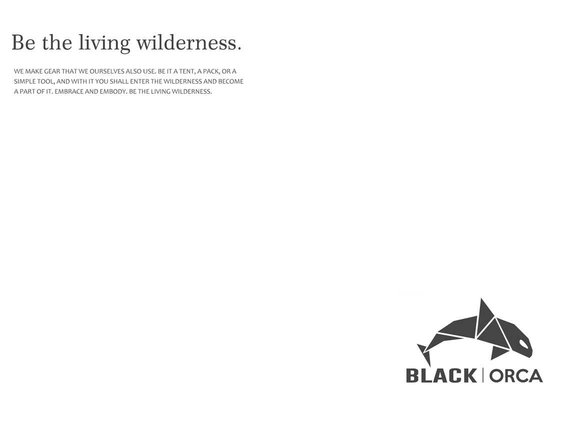 logo of black orca, outdoor camping gear of OneTigris