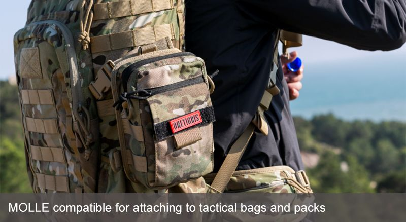 MOLLE compatible for attaching to tactical bags and packs
