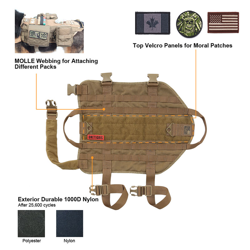 tactical dog harness 526