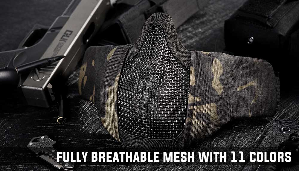 onetigris tactical foldable mesh mask scream