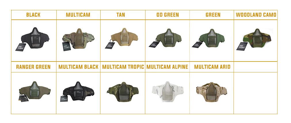 colors of onetigris scream foldable mesh mask