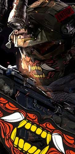 1TG FACE OFF Airsoft Mask Set × Titiartist/Samurai
