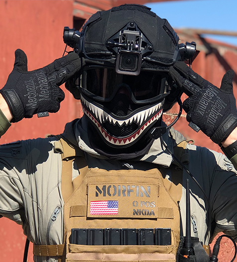 1TG FACE OFF Airsoft Mask Set × Storm