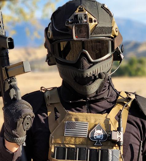 1TG FACE OFF Airsoft Mask Set-Blackout Storm